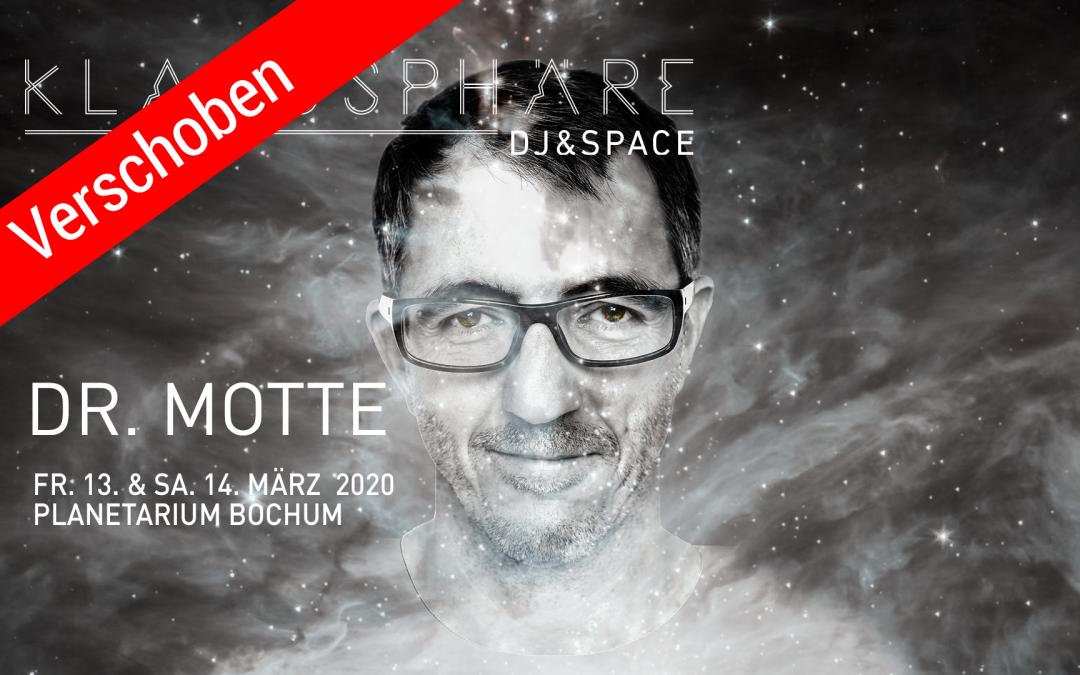 Verschoben: Dr. Motte im Planetarium Bochum